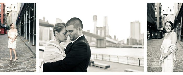 DUMBO, Brooklyn Bridge engagement shoot