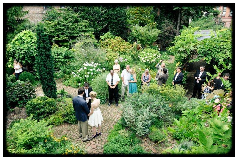 East Village Community Garden Wedding Stylish Hip Weddings Brooklyn Wedding Photographers