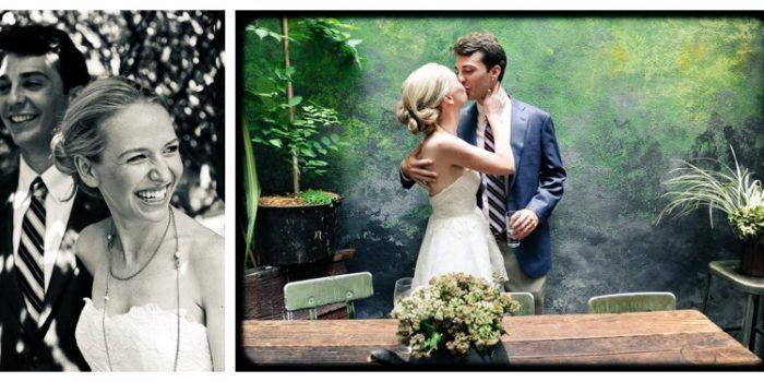 East Village community garden wedding