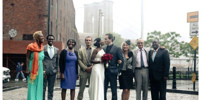 Njoki and Pierre's misty Brooklyn Botanic Garden wedding