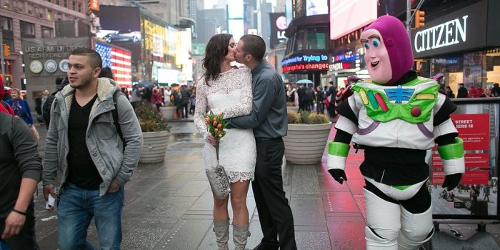 Eloping from Australia to the Jumbotron in Times Square!