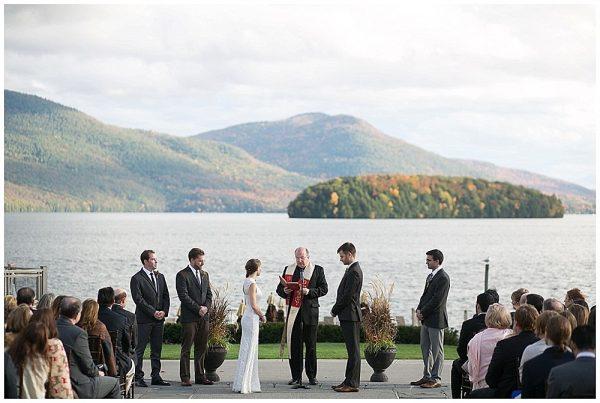Fall Wedding at Lake George