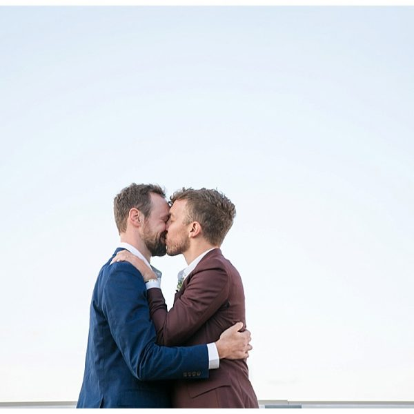 2 Grooms marry at Brooklyn Grange