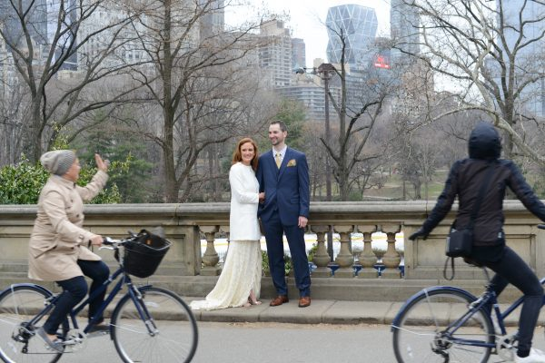 Two Canadians Wed in Central Park, Aye!