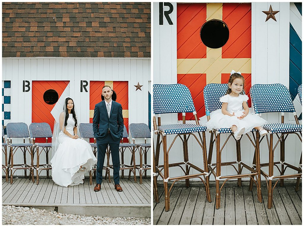 navy beach wedding