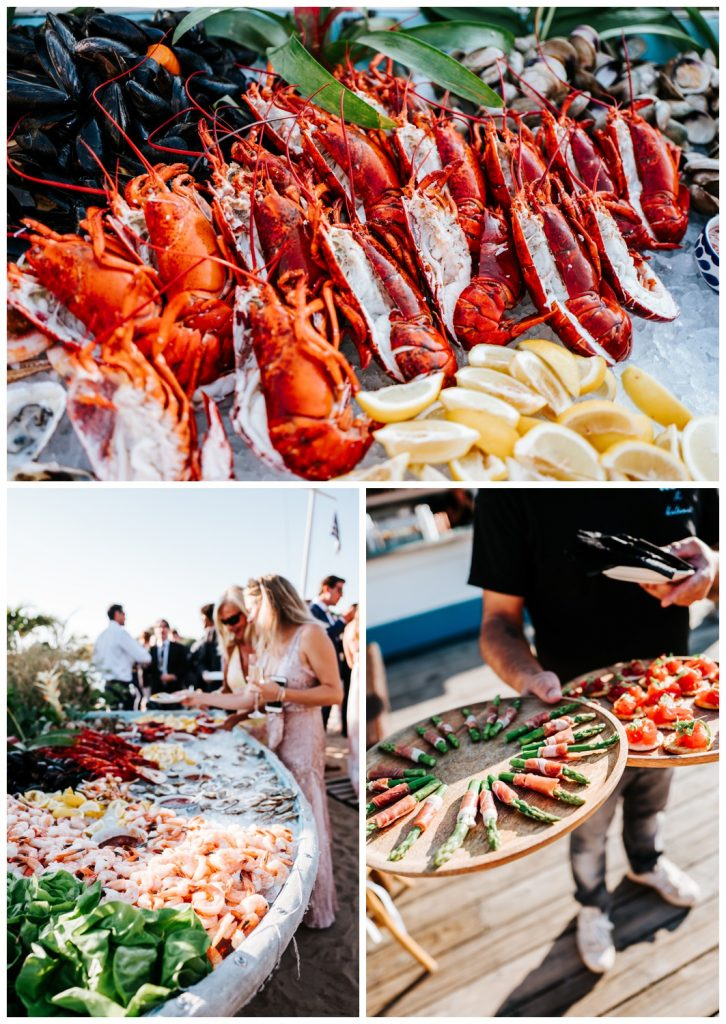 food at Valentina + John wedding