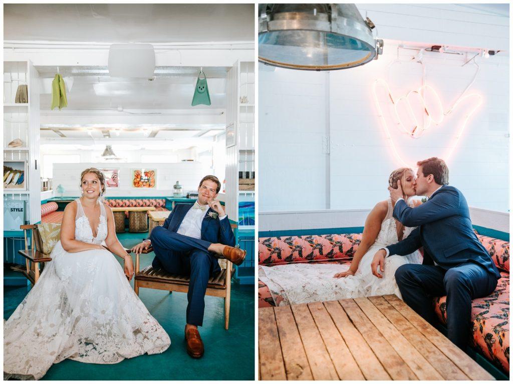bride and groom Valentina + John