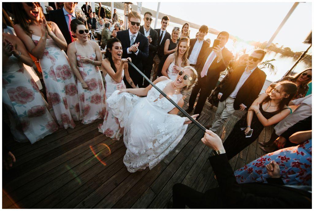 bride playing games