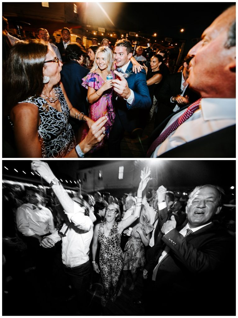 having fun at wedding party