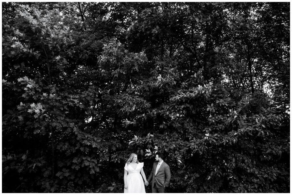 Liz & Ryan under tree
