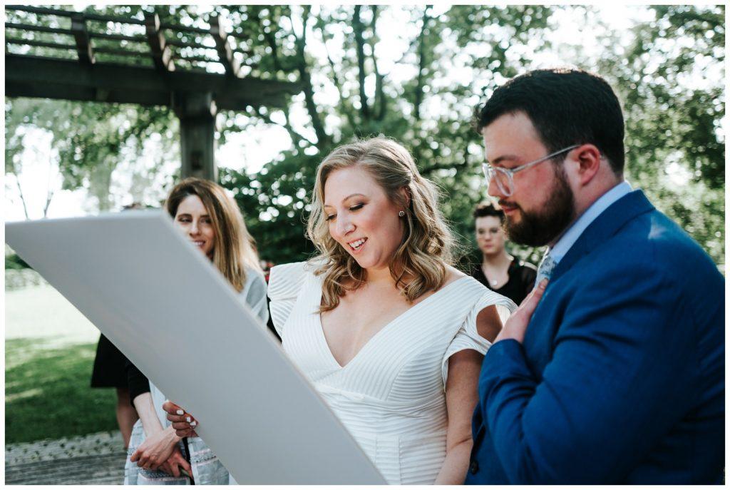 Liz + Ryan on their marriage
