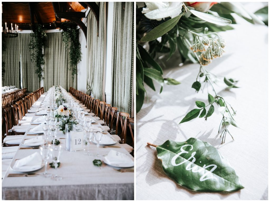 Liz + Ryan wedding table decor