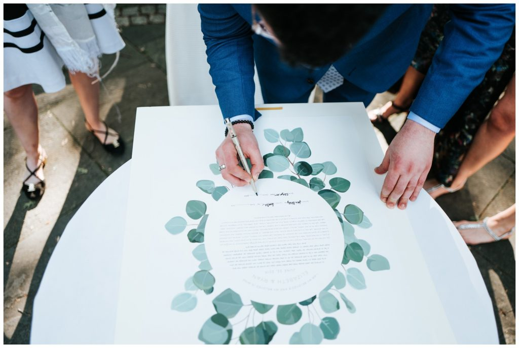 signature for wedding