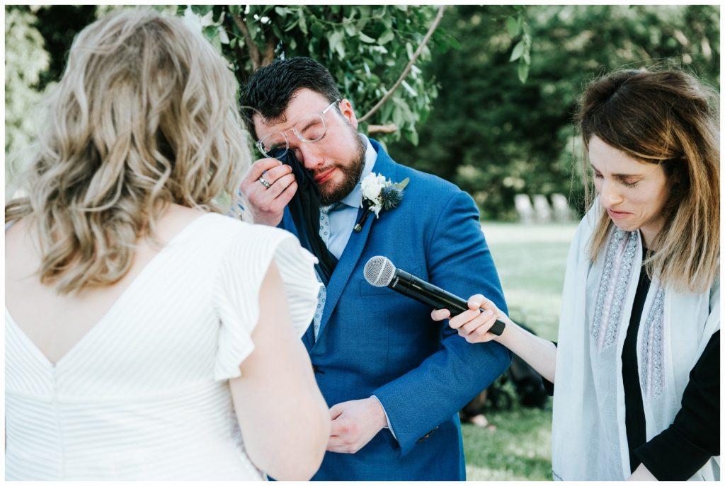weeping groom