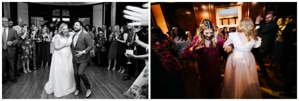 dancing at wave hill wedding